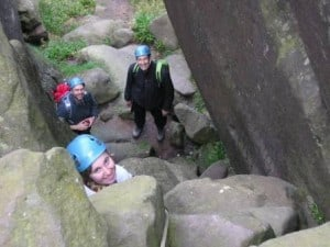 Families having Rock Scrambling Peak District