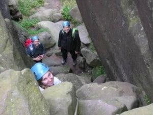 Scrambling in the Peak District