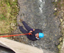 Abseiling Peak District