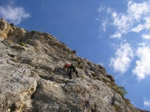 Rockclimbing Peak District
