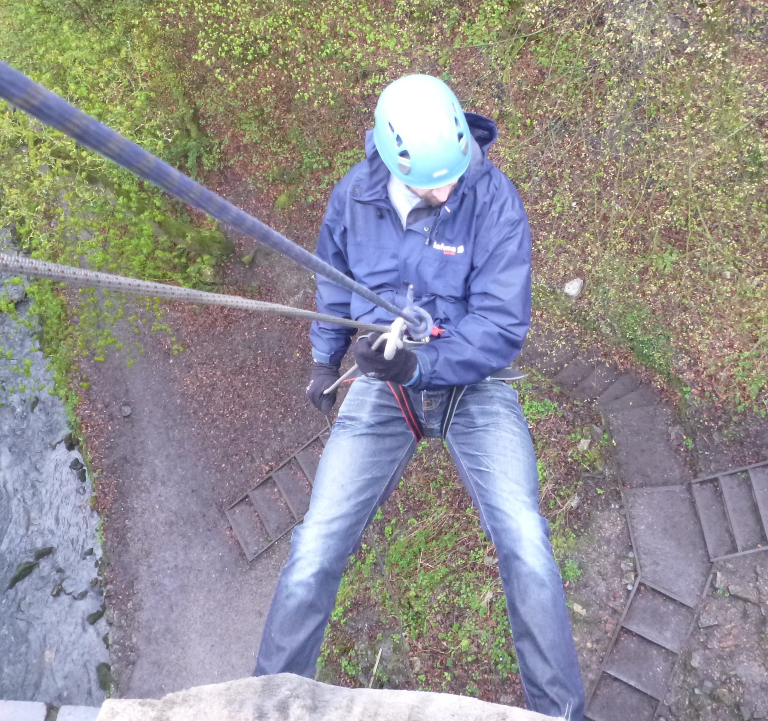 millers dale viaduct abseiling