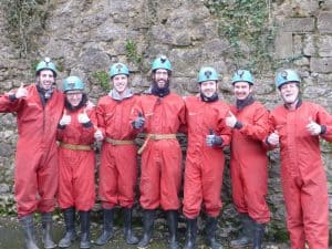 stag party caving in Derbyshire